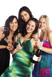 Group image of young women at a party Stock Photos