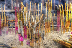 A group of incense sticks. Group of incense sticks at a buddhism temple china stock image