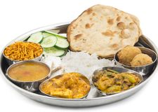 Indian food Thali Royalty Free Stock Photography
