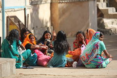 Group of Indian girls Royalty Free Stock Images