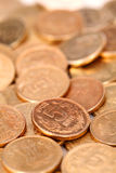 Group of Indian rupee gold coins Stock Photo