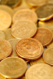 Group of Indian rupee gold coins Stock Photography