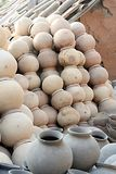 Clay Pots. Group of Indian Traditional Clay Pots Royalty Free Stock Images