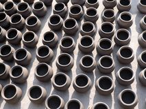 Clay Pots. Group of Indian Traditional Clay Pots Royalty Free Stock Photo