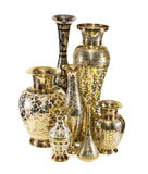 Group of Indian vases Stock Photo