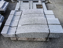 Group of industrial granite complements ready for selling Stock Photos