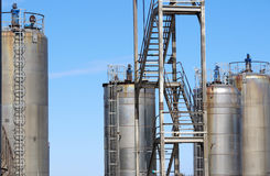 Group of Industrial Storage Tanks Stock Photos