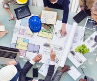 Group of Interior Designers Working Together royalty free stock photo