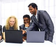 A group of international businessmen Royalty Free Stock Photos