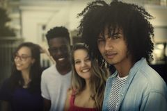 Group of international generation y young adults royalty free stock image