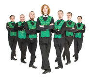 Group of irish dancer isolated Stock Photography