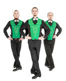 Group of irish dancers isolated Stock Photography