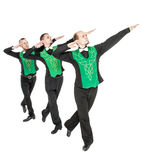 Group of irish dancers isolated Stock Image