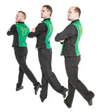 Group of irish dancers isolated Royalty Free Stock Images