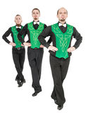 Group of irish dancers isolated Stock Photos