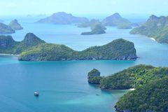Group of islands Angthong Royalty Free Stock Photos