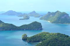Group of islands Angthong Royalty Free Stock Image
