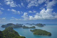 Group of islands Angthong Stock Photo
