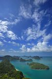 Group of islands Angthong Royalty Free Stock Images