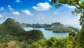 Group of Islands in the south of Thailand Stock Photography