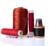 Group of Items for Home Sewing Royalty Free Stock Photography