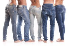 Group of jeans Stock Images