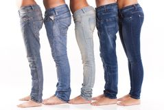 Group of jeans Stock Image