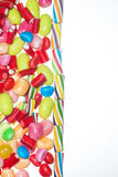 Group of jelly beans with space to insert text Royalty Free Stock Photos