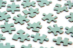 Group of jigsaw pieces Royalty Free Stock Photo
