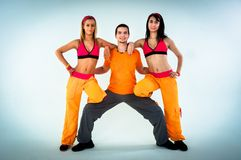 Group of joyful fitness instructors Royalty Free Stock Photo