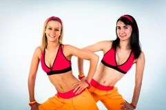 Group of joyful fitness instructors Stock Photography