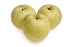 A  group juicy Asian Pear : includes a clipping path Stock Images