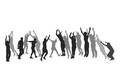 Group  jumping Royalty Free Stock Image