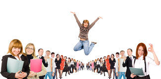 Group jumping Royalty Free Stock Images