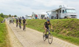 Group of Junior Cyclists - Tour de France 2015 Royalty Free Stock Photography