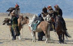 Group of Kazakh Eagle Hunters 5 Royalty Free Stock Photo