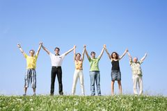 Group keeps for hands Royalty Free Stock Photos