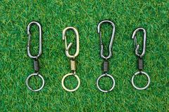 Group Key chain on grass Stock Photo