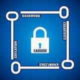Group of keys required for  open a career lock Royalty Free Stock Photo