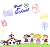 Group of kids,back to school Royalty Free Stock Photos