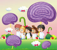 A group of kids at the candyland Royalty Free Stock Photography