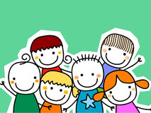 Group of kids card Stock Photos