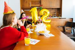 Children at birthday party Stock Image