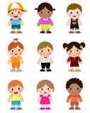 Group of kids collection Royalty Free Stock Photography