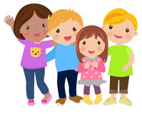 Group of kids collection Stock Photo