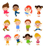 Group of kids collection Royalty Free Stock Photo