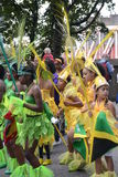 Group of Kids dancing at Notting Hill Carnival Stock Photos