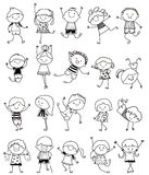 Group of kids,drawing sketch. Illustration of Group of kids,drawing sketch Stock Images