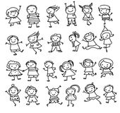 Group of kids,drawing sketch Stock Photography