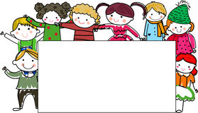 Group of kids frame Stock Images